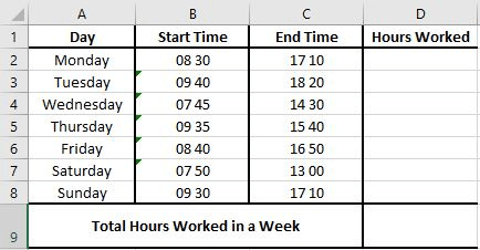 How do I subtract minutes from military time in Excel
