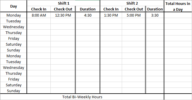 Time Card Calculator With Lunch Break Dremployee